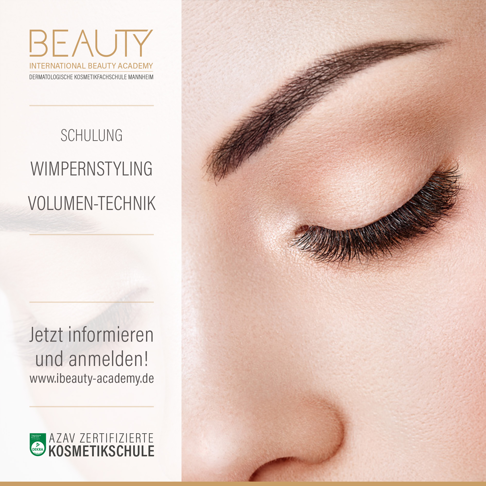 Wimpern Volumentechnik